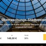3 Tage Überraschungs-Städtereise in einer europäischen Stadt mit Hotel und Flug für nur 149€