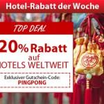 20% Rabatt auf Hotels weltweit bei ebookers