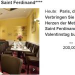 3 Tage Paris im 4 Sterne Hotel Etoile Saint-Ferdinand inkl. Frühstück für 109€