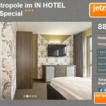 3 Tage Berlin zu zweit im IN HOTEL inkl. Frühstück für 88,99€
