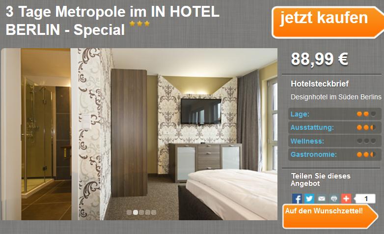 3 tage berlin zu zweit im in hotel inkl fr hst ck f r 88 for Designhotel residenz 2000 berlin