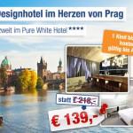 3 Tage Prag zu zweit im 4 Sterne Pure White Hotel mit Frühstück für 139€