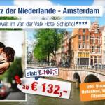 3 Tage Städtetrip Amsterdam zu zweit im 4 Sterne Van der Valk Schipohl inkl. Frühstück für 132€