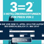 3 Hotelübernachtungen zum Preis von 2 bei der Accorhotels-Kette