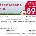 Airberlin Jubelpreise – Deutschlandweit Hin- & Rückflug ab 89€
