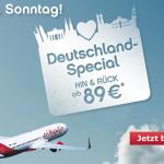 Air Berlin Deutschland Spezial – Innerdeutsche Flüge Hin und Zurück ab 89€