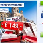 3 Tage zu zweit im 4 Sterne Amedia Hotel in Wien mit Frühstück für 149€