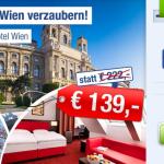 3 Tage Wien zu zweit im 4 Sterne Hotel mit Frühstück für 139€