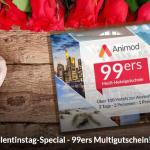 Animod Multi-Hotelgutschein – 3 Tage für 2 Personen in einem von über 100 Hotels mit Frühstück für 99,98€