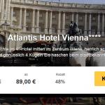 3 Tage Wien im 4 Sterne Atlantis Vienna Hotel mit Frühstück für 89€