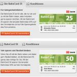 DB Aktion – Bahncard für Schüler, Azubis, Studenten und Rentner 50% günstiger