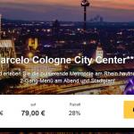 2 Tage im 4 Sterne Hotel Barcelo Cologne City Center mit Frühstück und 2-Gang-Menü für 79€