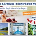 4 Tage zu zweit im Wellness & Erholung Berghotel im Bayerischen Wald inkl. Frühstück für 189€