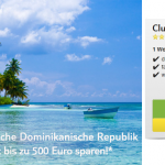 1 Woche dominikanische Republik im 5 Sterne ClubHotel RIU Merengue mit All Inclusive, Zug-zum-Flug für 710€