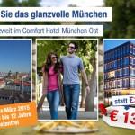 3 Tage München im 3 Sterne Comfort Hotel Muenchen Ost mit Frühstück für 69€
