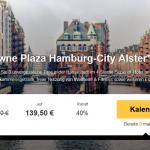3 Tage Hamburg im 4,5 Sterne Crowne Plaza Hotel Hamburg mit Frühstück für 139,50€