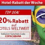 20% Rabatt auf Hotels ohne Mindestbuchungswert bei ebookers