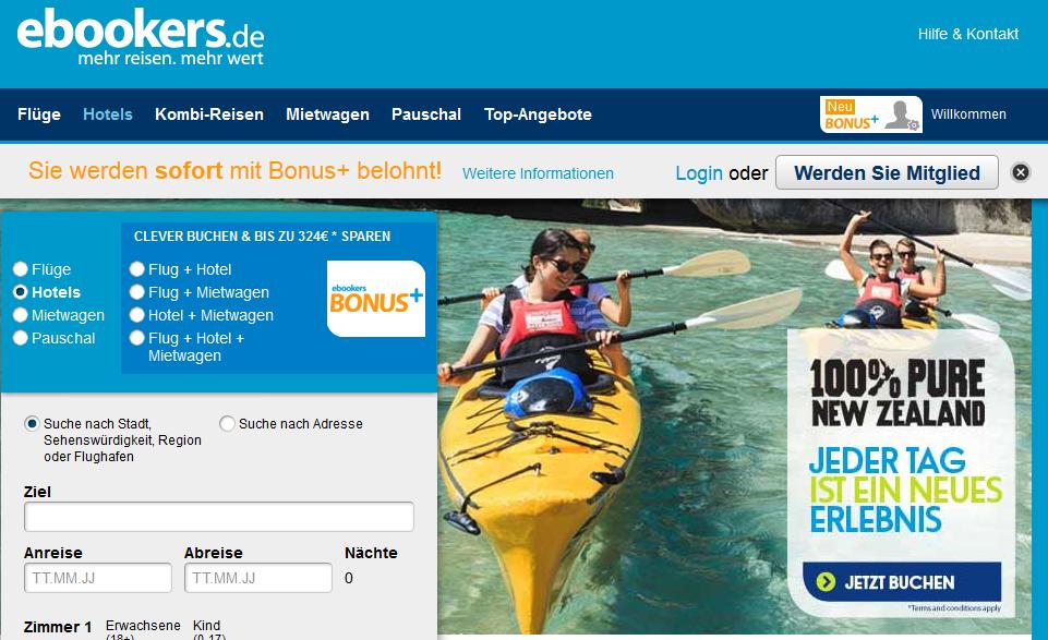 ebookers-webseite