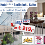 3 Tage Berlin im 4 Sterne Estrel Hotel in einer Suite inkl. Showtickets ab 219€