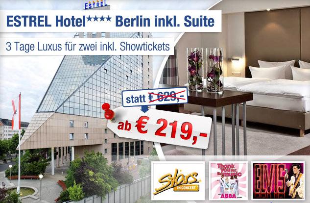 3 Tage Berlin Im 4 Sterne Estrel Hotel In Einer Suite Inkl
