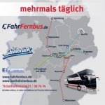 30€ FahrFernbus.de Gutschein für 15€ – mehrmals täglich quer durch Deutschland