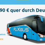 FlixBus Gutschein für nur 14,90€ – quer durch Deutschland reisen