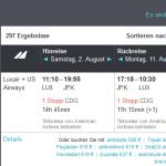Hin- und Rückflug nach New York für 323 Euro von Luxemburg