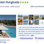 1 Woche Ägypten im 4 Sterne Grand Hotel Hurghada mit Halbpension für 249€