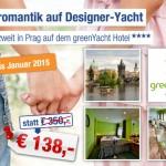 3 Tage Prag zu zweit auf dem greenYacht Hotel mit Frühstück für 138€