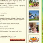 eine Nacht im Heide Park Holiday Camp für 4 Personen mit Eintritt für nur 99€