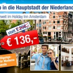 3 Tage für zwei Personen im Holiday Inn Amsterdam für 136 €