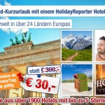 3 Übernachtungen für 2 Personen in einem von 1900 Hotels eurer Wahl für 30€