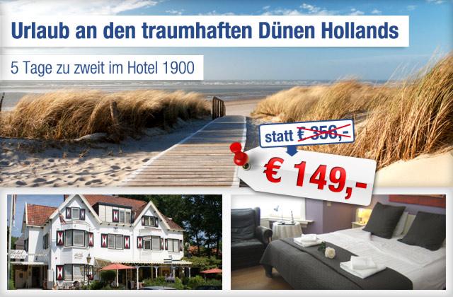 4 bernachtungen zu zweit im hotel 1900 in holland an der. Black Bedroom Furniture Sets. Home Design Ideas