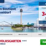 Übernachtung zu zweit im Hotel am Volksgarten in Düsseldorf inkl. Frühstück für 34€