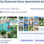 8 Tage Türkei im 4 Sterne Hotel Annabella Park mit All Inklusive für nur 308€