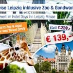 3 Tage zu zweit im Hotel Days Inn in Leipzig inkl. Eintritt in Zoo für nur 139€