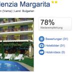 7 Tage Bulgarien im Hotel Residenzia Margarita inkl. Frühstück und Transfer für 120€