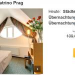 3 Tage Städtetrip Prag im 4 Sterne Hotel Theatrino inkl. Frühstück für 49€