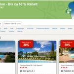 Hotels.com weltweite 72-Stunden Aktion mit bis zu 50% Rabatt