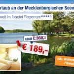 3 Tage Mecklenburgische Seenplatte zu zweit im 4 Sterne Iberotel Fleesensee mit Frühstück für 189€