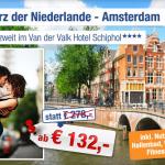 3 Tage Kurztrip Amsterdam zu zweit im 4 Sterne Hotel inkl. Frühstück ab 139€