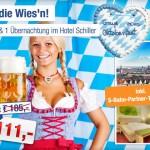 2 Tage zu zweit Münchener Oktoberfest im 3 Sterne Hotel Schiller für 111€