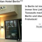 Madame Tussauds Berlin Eintrittskarte mit Übernachtung im 3 Sterne Hotel für 45€