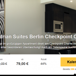 3 Tage Berlin in den Mondrian Suites mit Frühstück und WLAN für nur 79€