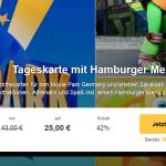 Eintrittskarte für den Movie Park Deutschland mit Hamburger Menü für 26,95€