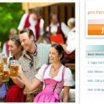 Oktoberfest München 2014 mit Übernachtung im 4 Sterne Hotel und Zeltreservierung für 129€