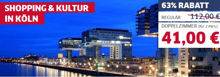 Bernachtung f r 2 personen 4 sterne hotel park inn by for Ubernachtung in koln