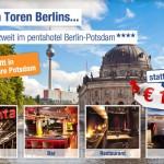 3 Tage zu zweit im 4 Sterne pentahotel Berlin-Potsdam inkl. Frühstück für 109€