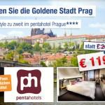 3 Tage Städtetrip Prag zu zweit im 4 Sterne pentahotel Prague für nur 119€