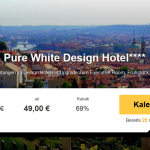 3 Tage Prag im 4 Sterne Pure White Design Hotel mit Frühstück für 49€